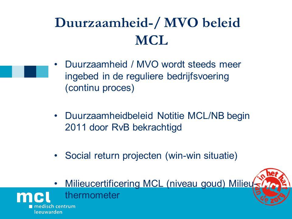 Duurzaamheid-/ MVO beleid MCL