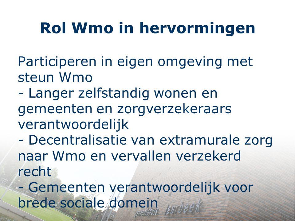 Rol Wmo in hervormingen