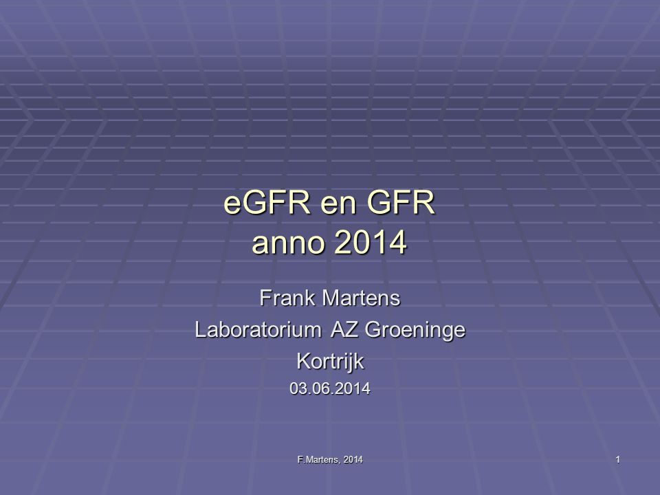 Frank Martens Laboratorium AZ Groeninge Kortrijk 03.06.2014