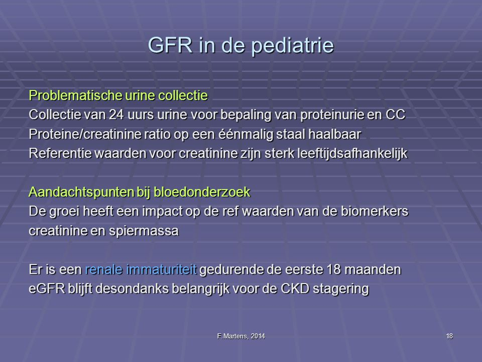 GFR in de pediatrie Problematische urine collectie