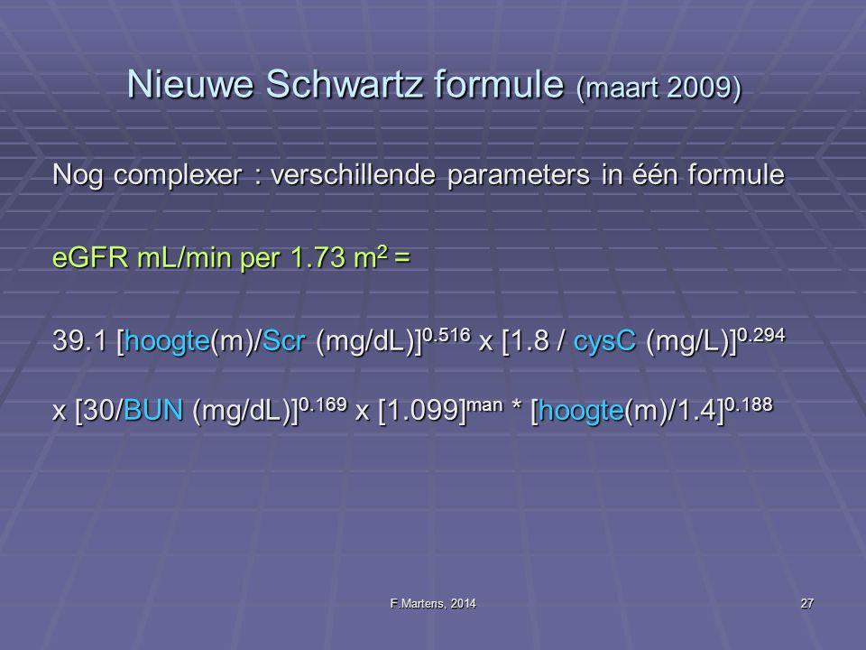 Nieuwe Schwartz formule (maart 2009)