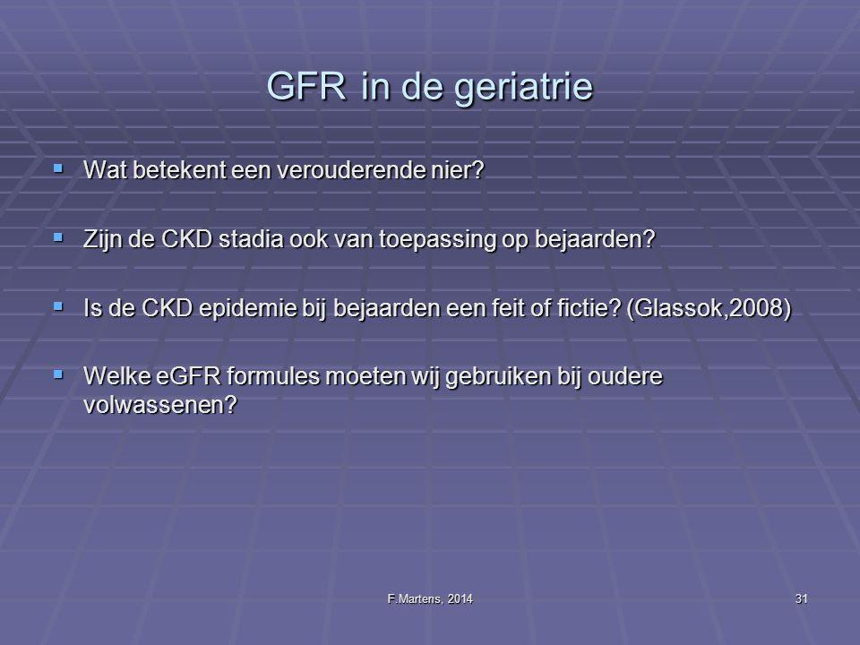 GFR in de geriatrie Wat betekent een verouderende nier