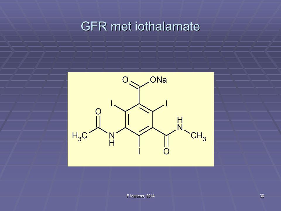 GFR met iothalamate F.Martens, 2014