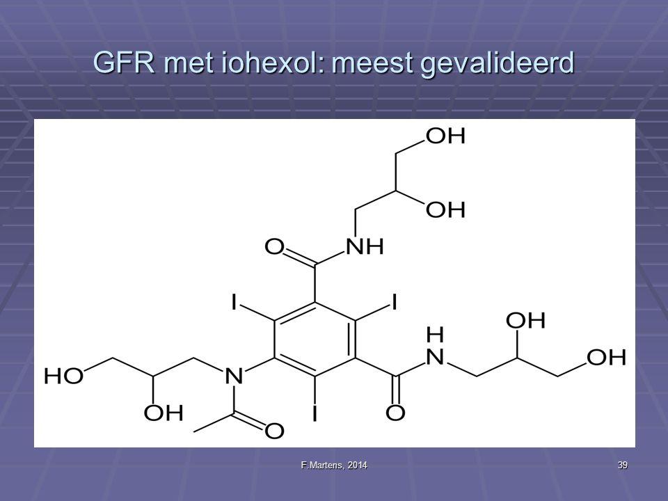 GFR met iohexol: meest gevalideerd
