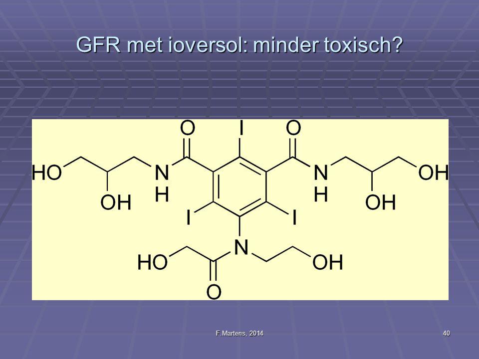 GFR met ioversol: minder toxisch