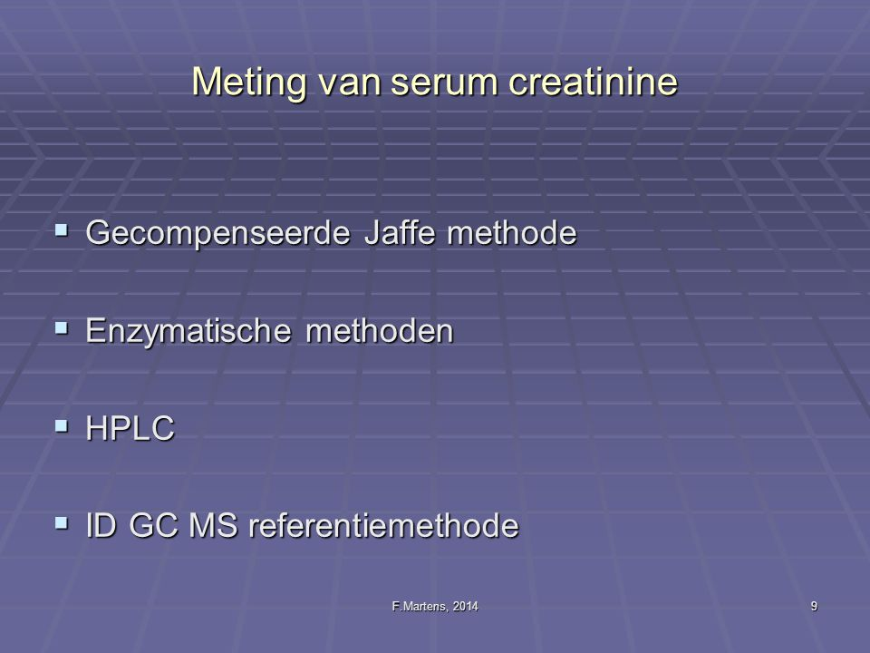 Meting van serum creatinine