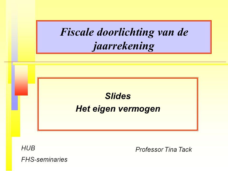 Fiscale doorlichting van de jaarrekening
