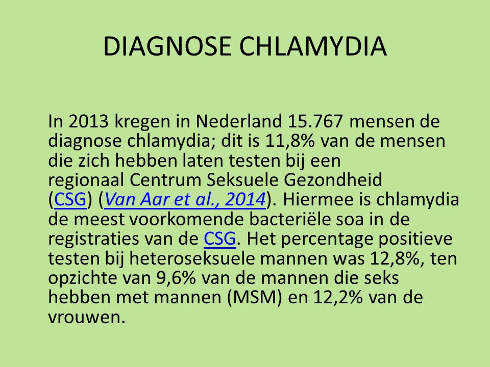 DIAGNOSE CHLAMYDIA