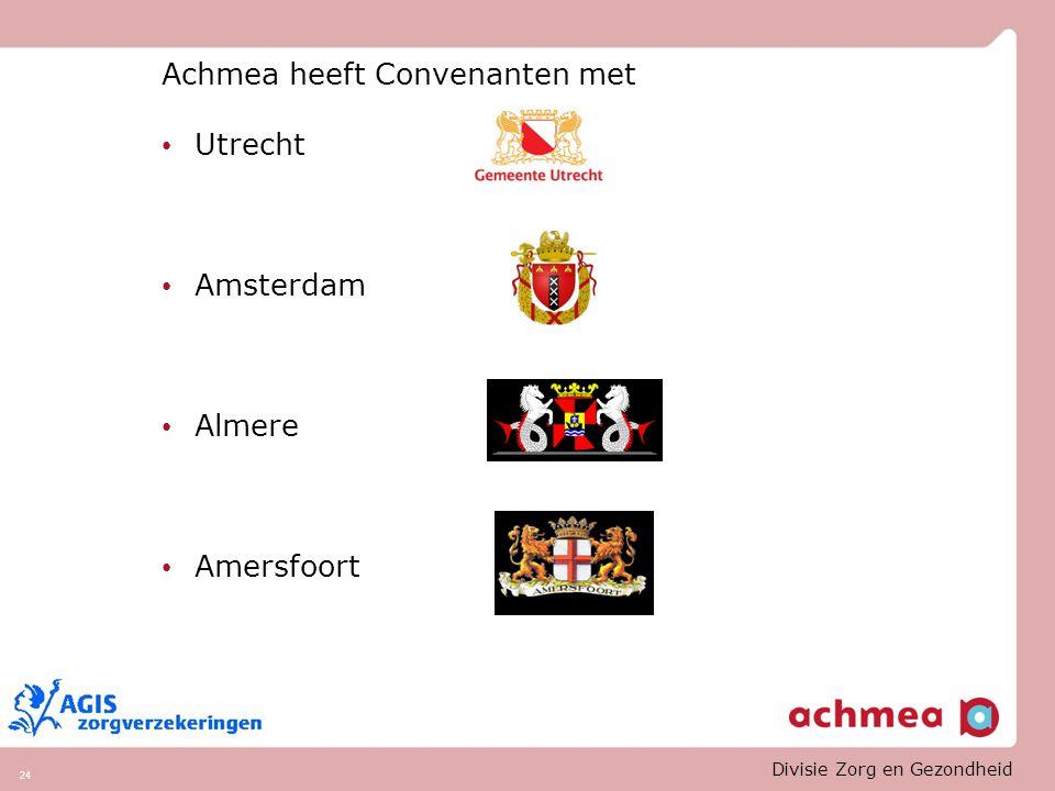 Achmea heeft Convenanten met Utrecht