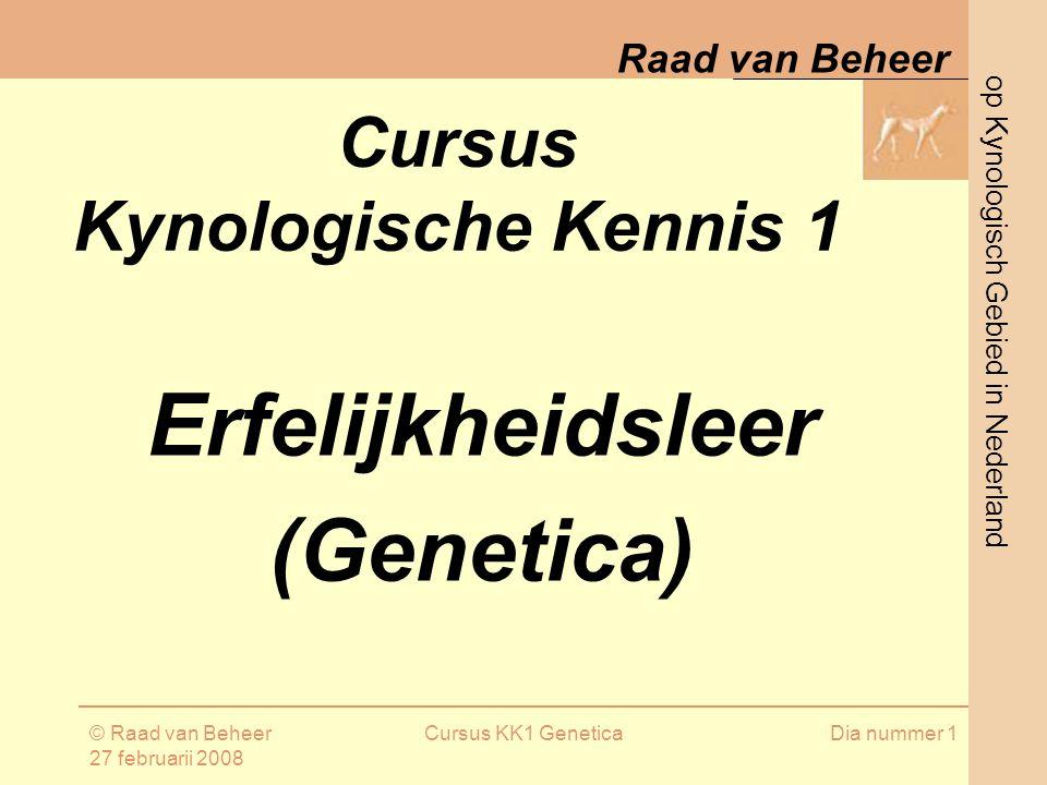 Erfelijkheidsleer (Genetica)