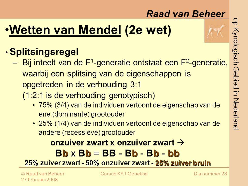 Wetten van Mendel (2e wet)