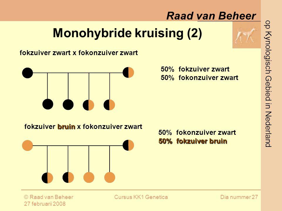 Monohybride kruising (2)
