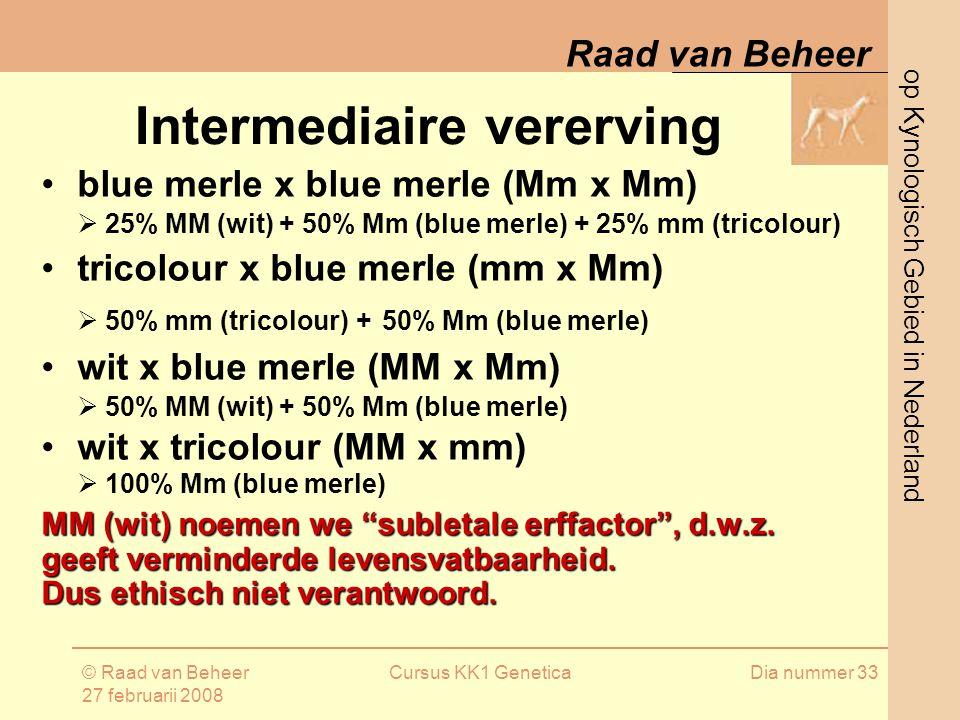 Intermediaire vererving