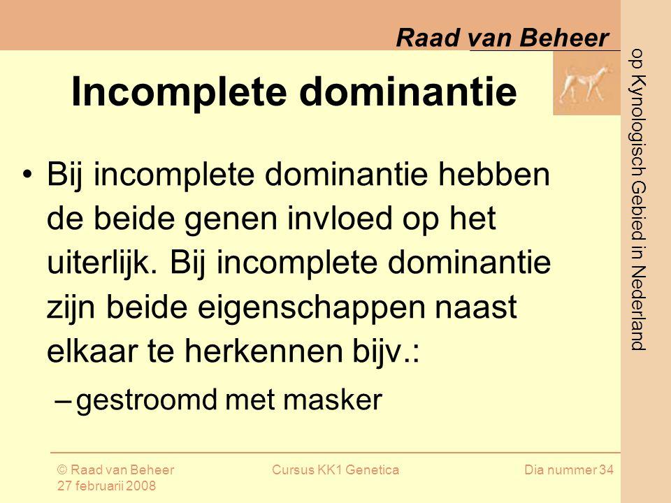 Incomplete dominantie