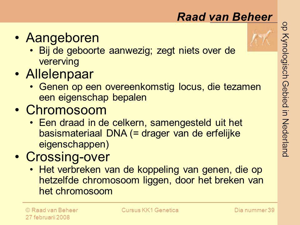 Aangeboren Allelenpaar Chromosoom Crossing-over