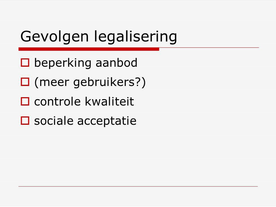 Gevolgen legalisering