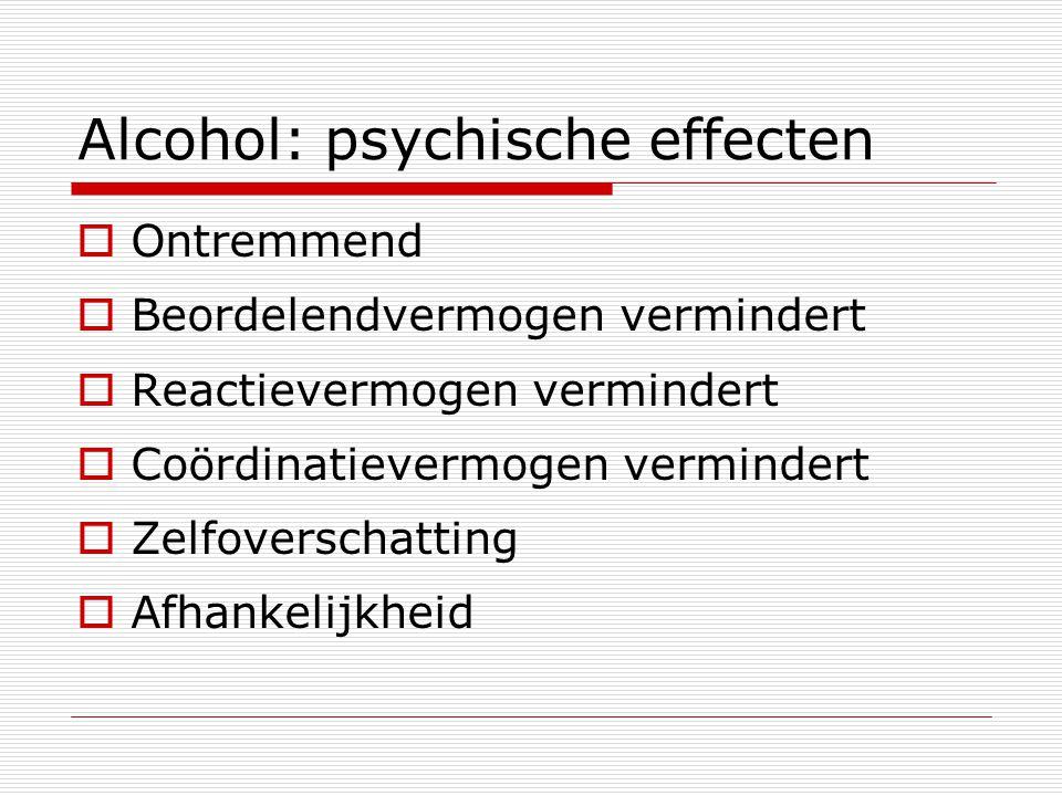 Alcohol: psychische effecten