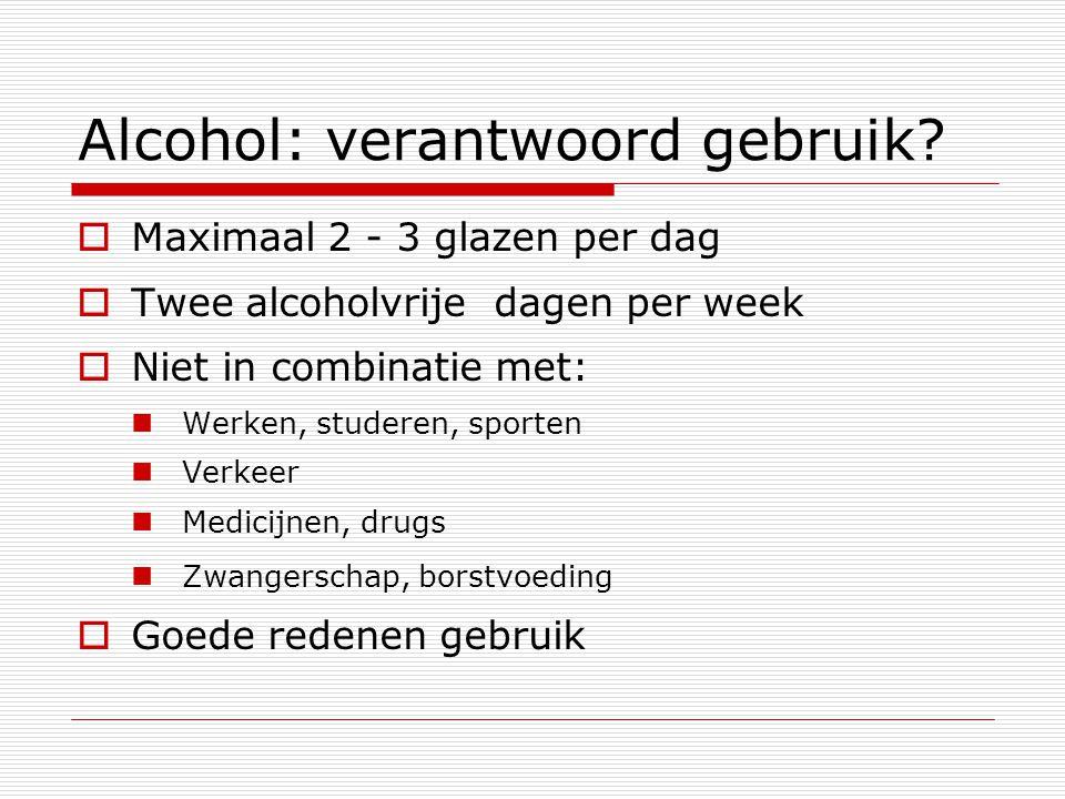Alcohol: verantwoord gebruik