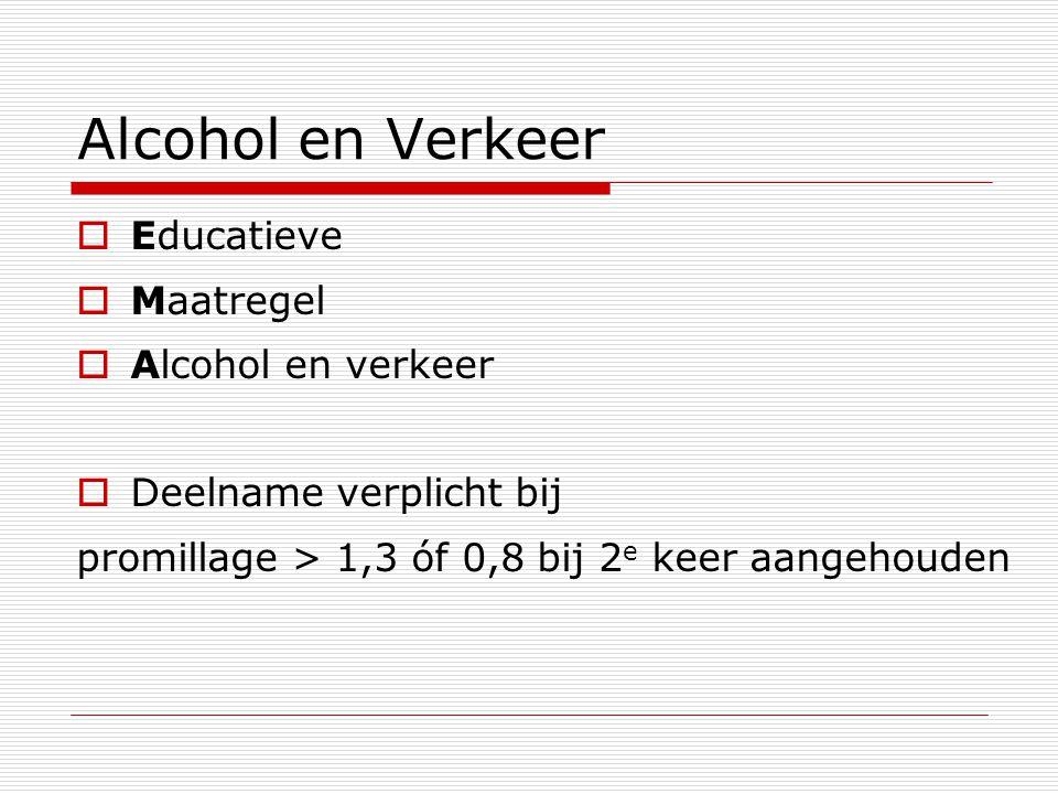 Alcohol en Verkeer Educatieve Maatregel Alcohol en verkeer
