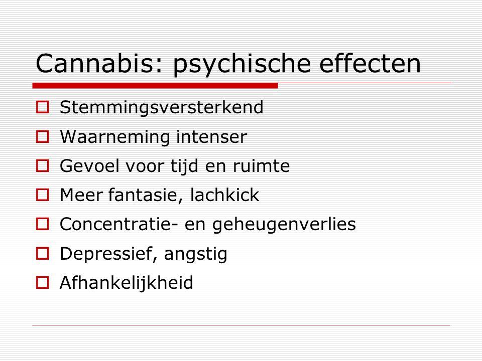 Cannabis: psychische effecten