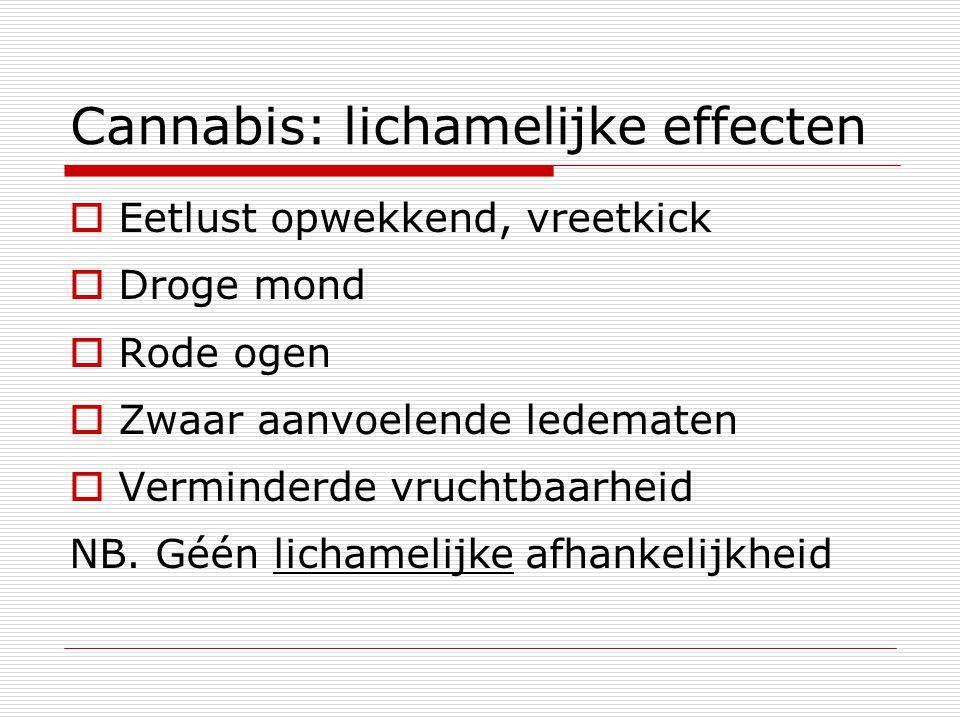 Cannabis: lichamelijke effecten