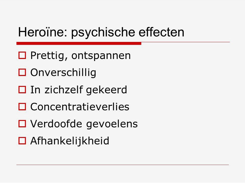 Heroïne: psychische effecten