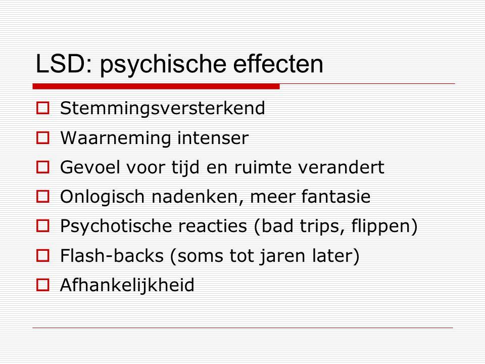 LSD: psychische effecten