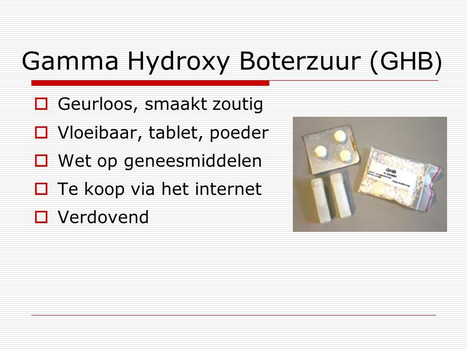 Gamma Hydroxy Boterzuur (GHB)