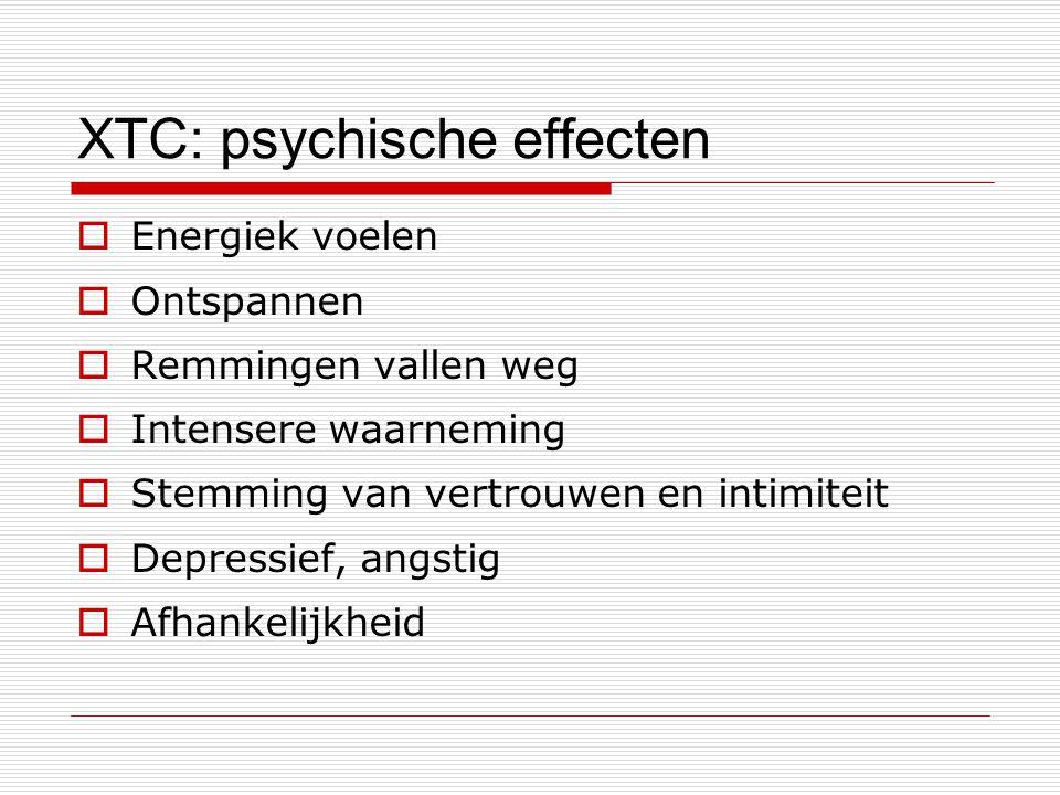 XTC: psychische effecten