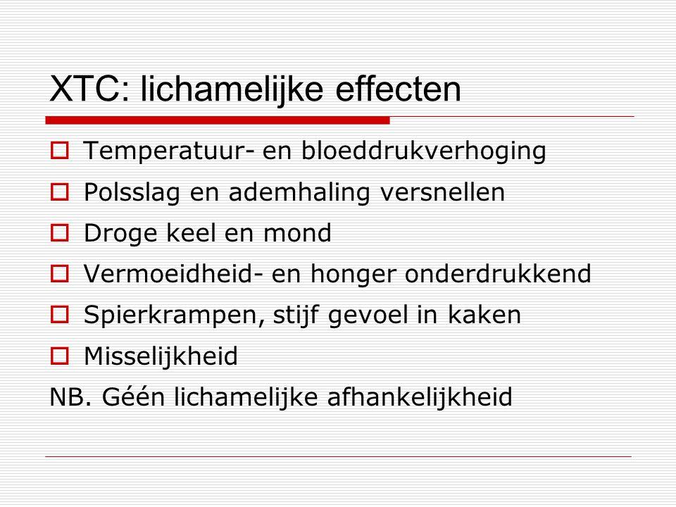 XTC: lichamelijke effecten
