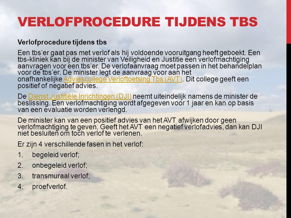 Verlofprocedure tijdens TBS