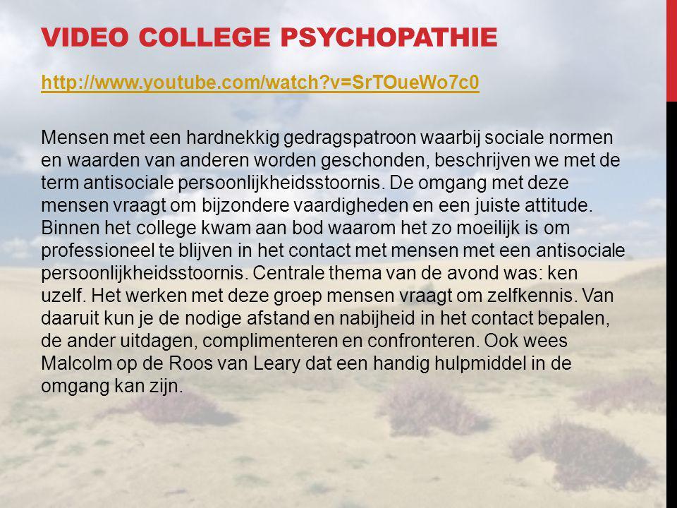 Video college psychopathie