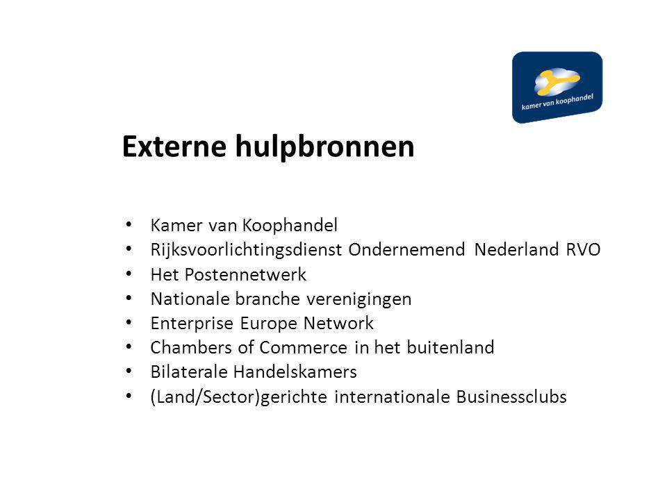 Externe hulpbronnen Kamer van Koophandel