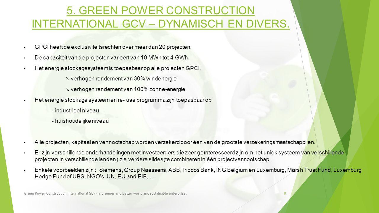 5. GREEN POWER CONSTRUCTION INTERNATIONAL GCV – DYNAMISCH EN DIVERS.