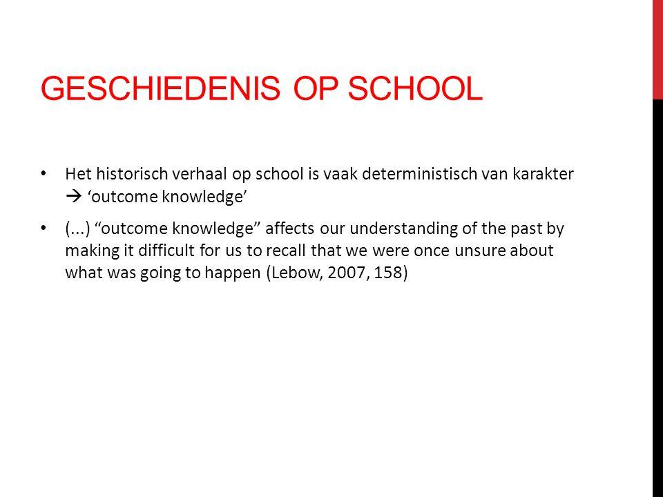 Geschiedenis op school