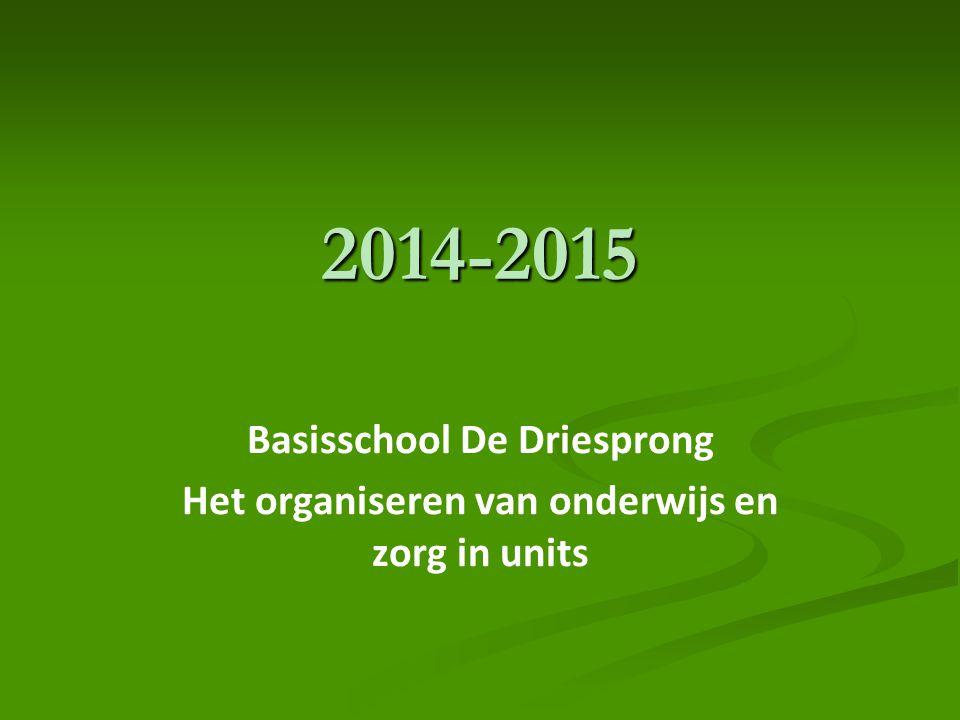 2014-2015 Basisschool De Driesprong