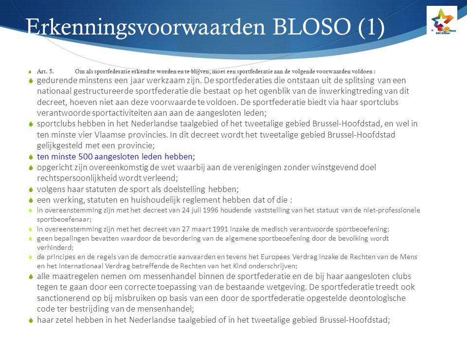 Erkenningsvoorwaarden BLOSO (1)
