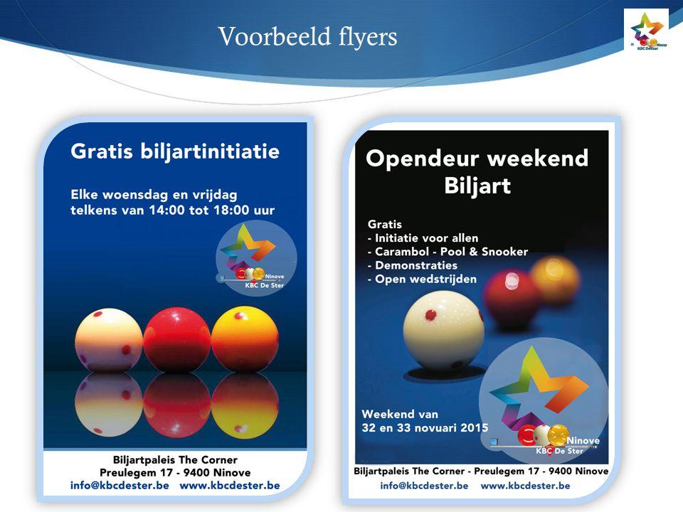 Voorbeeld flyers