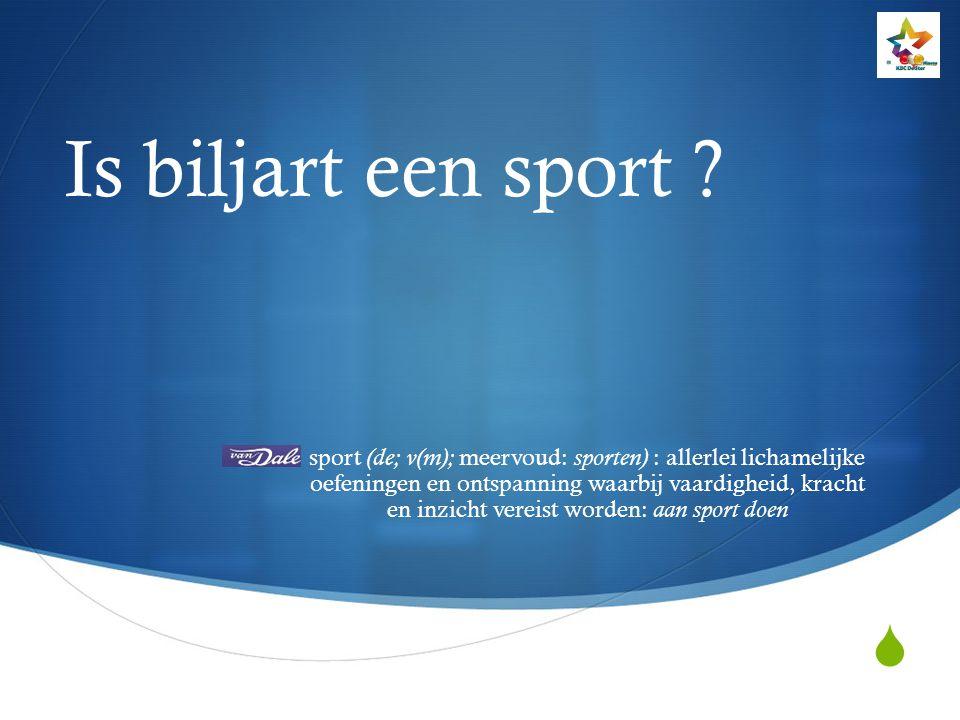 Is biljart een sport