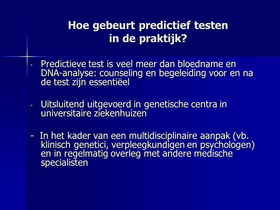 Hoe gebeurt predictief testen in de praktijk