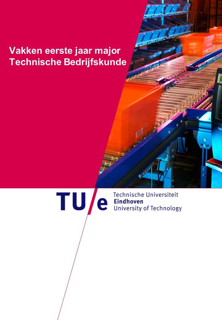 Vakken eerste jaar major Technische Bedrijfskunde