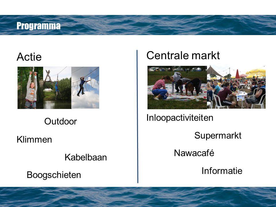 Centrale markt Actie Outdoor Programma Inloopactiviteiten Supermarkt