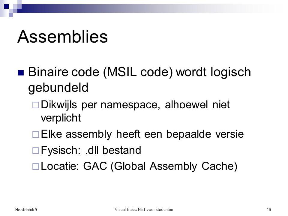 Visual Basic.NET voor studenten