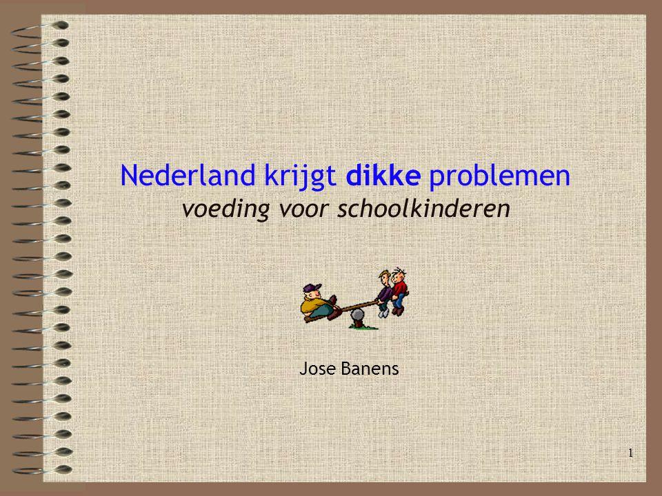 Nederland krijgt dikke problemen voeding voor schoolkinderen