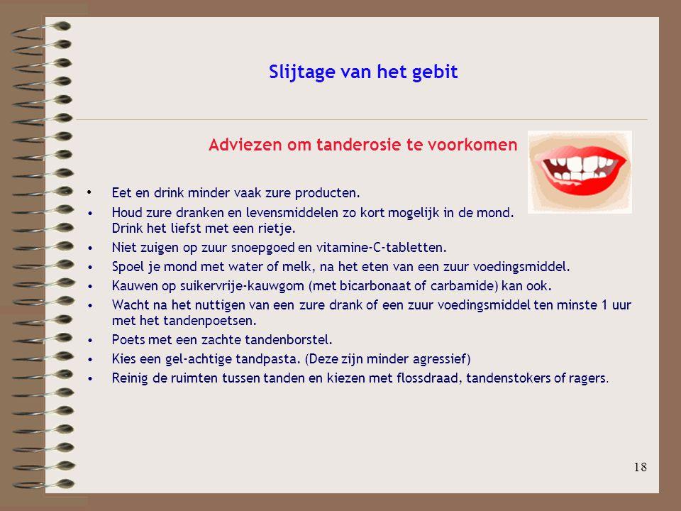 Adviezen om tanderosie te voorkomen