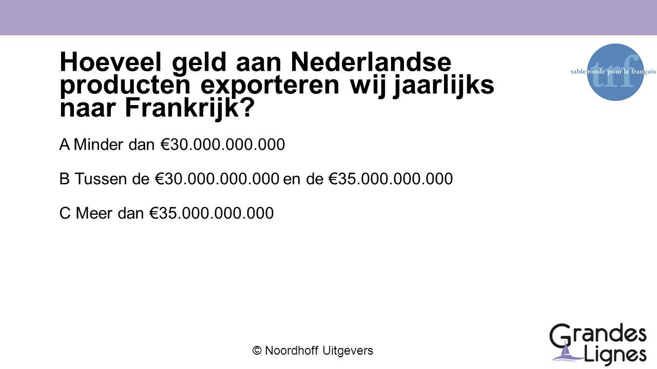 Hoeveel geld aan Nederlandse producten exporteren wij jaarlijks naar Frankrijk