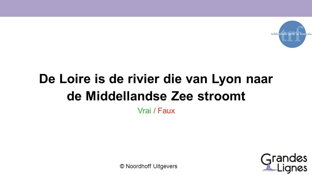 De Loire is de rivier die van Lyon naar de Middellandse Zee stroomt