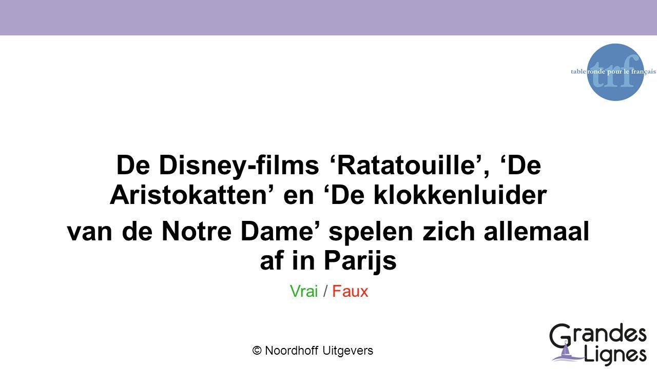 De Disney-films 'Ratatouille', 'De Aristokatten' en 'De klokkenluider