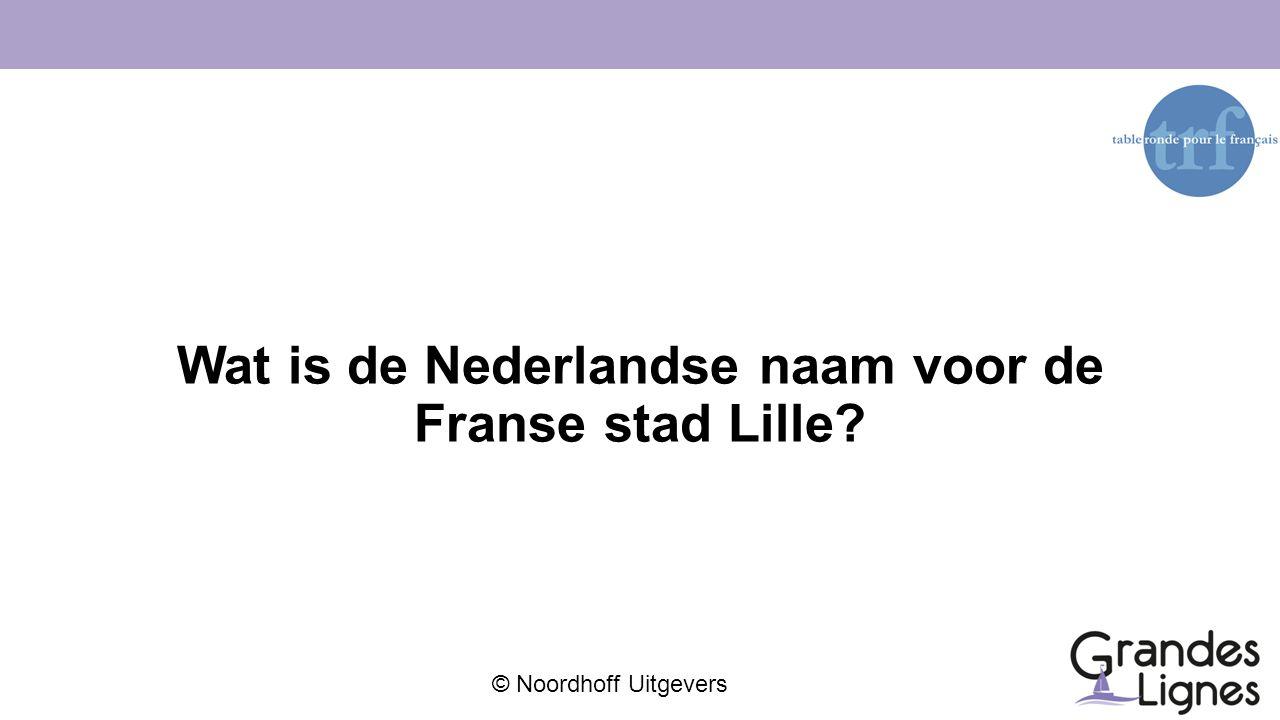 Wat is de Nederlandse naam voor de Franse stad Lille