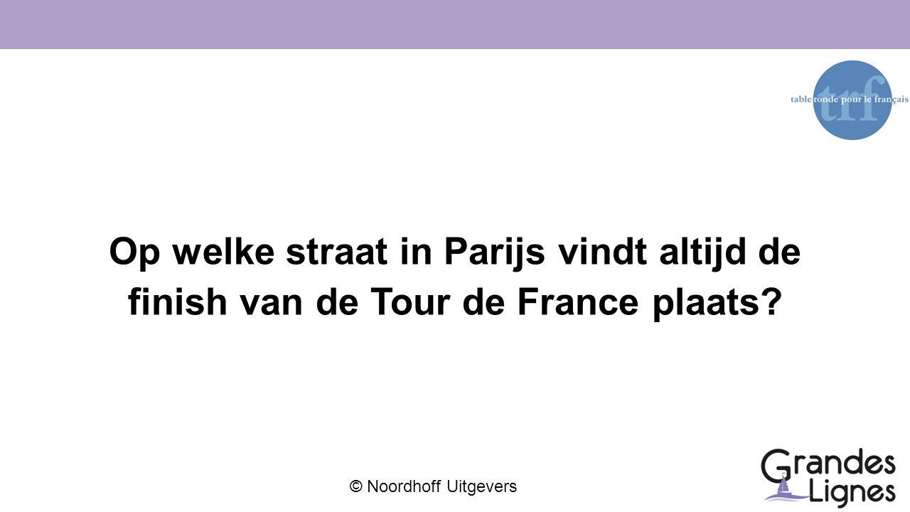Op welke straat in Parijs vindt altijd de finish van de Tour de France plaats